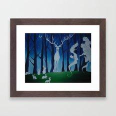 The Moonlight Exchange Framed Art Print