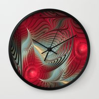 wallet Wall Clocks featuring Winter cheer by thea walstra