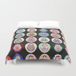 cute doll babushka matryoshka Duvet Cover