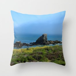 Rocks In The Sea At Pigeon Point Throw Pillow