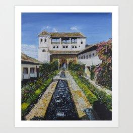 Palacio de Generalife Art Print
