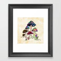 Garden of Shroomz Framed Art Print