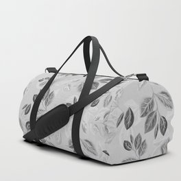 Black and White Leaves Pattern #2 Duffle Bag