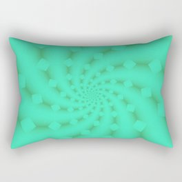 Tess Fractal in Honeydew Rectangular Pillow