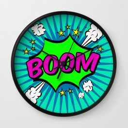 Boom Blue Boom Wall Clock