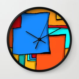 Cargo Ship Containers 11 Wall Clock