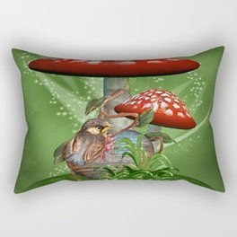 Fairy Mushrooms Rectangular Pillow