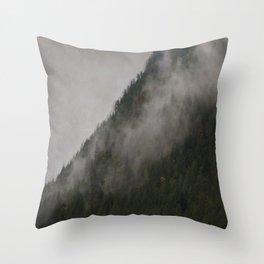 Revelstoke Forest Mists Photo Art Throw Pillow