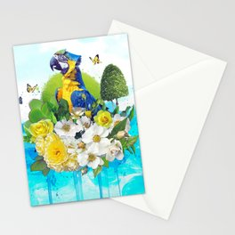 FLORAL PARROT Stationery Cards