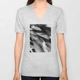 Abstract Artwork Greyscale #1 Unisex V-Neck