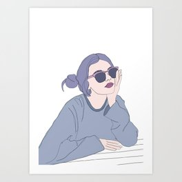 Fashion illustration - Girl Gang Prints - Blair Art Print