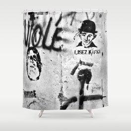 LISEZ KAFKA in PARIS Shower Curtain