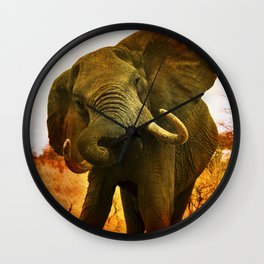 Mad Elephant Wall Clock