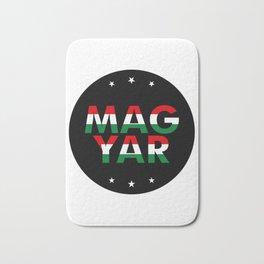 Magyar, circle, black, with stars Bath Mat
