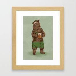 Traditional German Bear Framed Art Print
