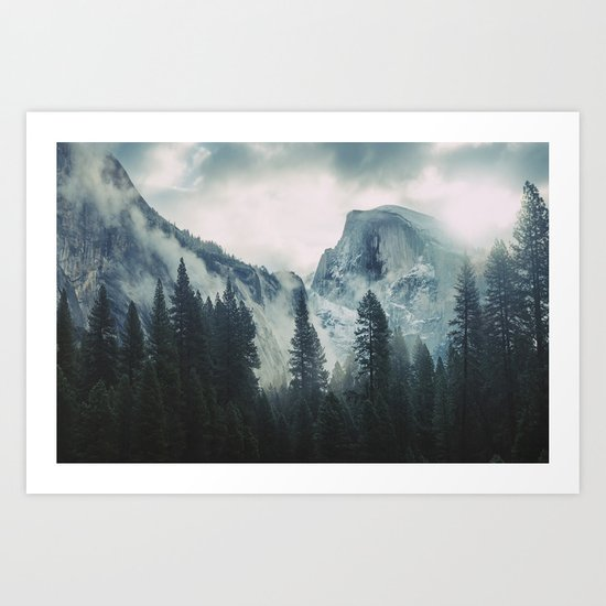 Cross Mountains II Art Print