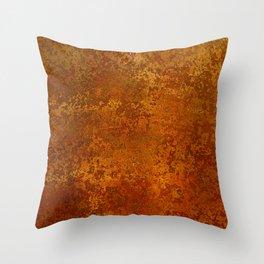 Vintage Copper Rust, Minimalist Art Throw Pillow
