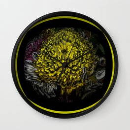 Black Yellow Pink Design Wall Clock