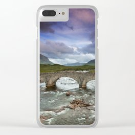 Bridge to the Valley Beyond Clear iPhone Case