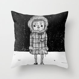 snowgirl Throw Pillow
