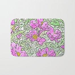 Garden Flowers Bath Mat