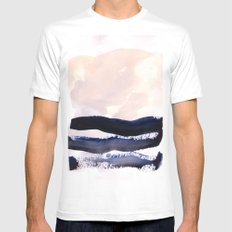 S U R F LARGE Mens Fitted Tee White