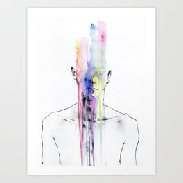 All my art is on you but you still don't hear me Art Print