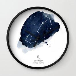 Zodiac Star Constellation - Scorpio Wall Clock