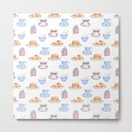 British Cream Tea Pattern Metal Print