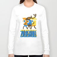 super heroes Long Sleeve T-shirts featuring zilasaule. super-heroes by Ilja Donets