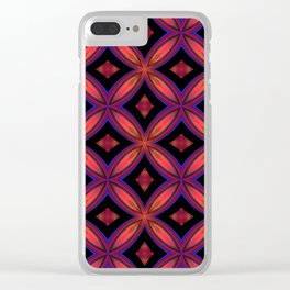 Red and Black Geometric Shapes Clear iPhone Case