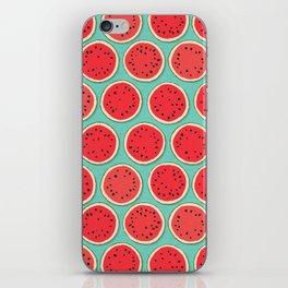 watermelon polka mint iPhone Skin
