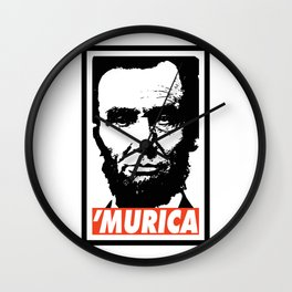 Abraham Lincoln Murica Wall Clock