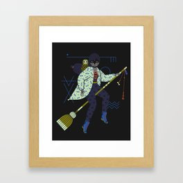 Witch Series: Broomstick Framed Art Print