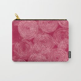 Radial Block Print in Magenta Carry-All Pouch