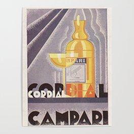 Vintage 1941 Cordial Campari Advertisement by Nicolay Diulgheroff Poster