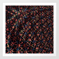 Patriotic fractals Art Print