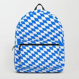 Bavarian Blue and White Diamond Flag Pattern Backpack