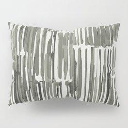 Simply Bamboo Brushstroke Green Tea on Lunar Gray Pillow Sham