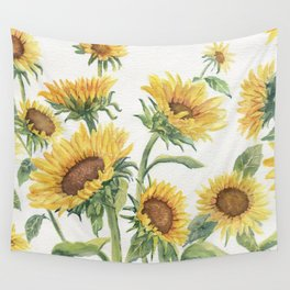 Blooming Sunflowers Wall Tapestry