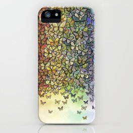 rainbow of butterflies aflutter iPhone Case