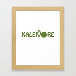 Kaleivore Kale Art for Vegans, Vegetarians Light Framed Art Print