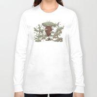 cloud Long Sleeve T-shirts featuring Cloud Watching by Terry Fan