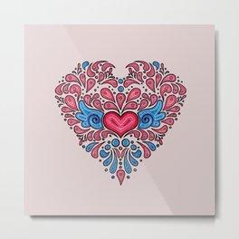 Hearts unfolding Metal Print