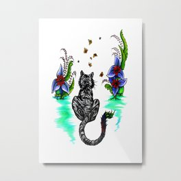 Tiger Paint Metal Print