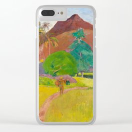 Tahitian Landscape by Paul Gauguin Clear iPhone Case