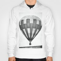 hot air balloon Hoodies featuring Hot Air Balloon by Rose Etiennette