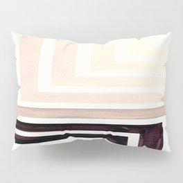 Grey Mid Century Modern Watercolor Colorful Ancient Aztec Art Pattern Minimalist Geometric Pattern Pillow Sham