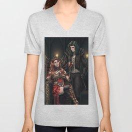 Vampire Feast Commission Unisex V-Neck