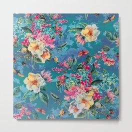 Floral Ocean III Metal Print
